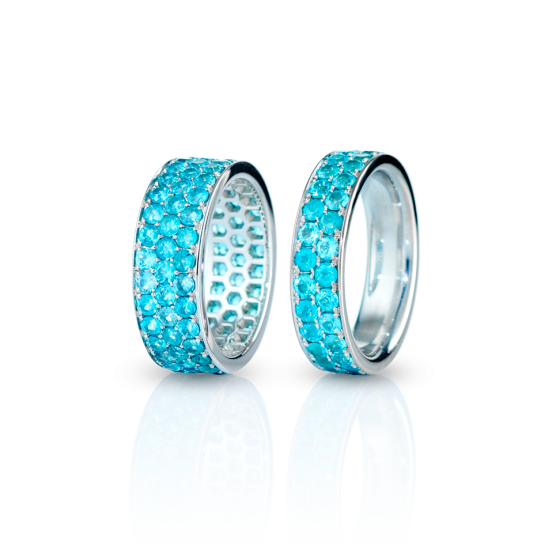 PARAIBA RIVER Rings Paraiba river Paraiba tourmalines 5 carat tourmaline-ring 3.5 carat white gold Paraiba tourmaline ring tourmaline rings gold-rings white-gold-ring smiths Munich jeweler goldsmiths  thomas jirgens