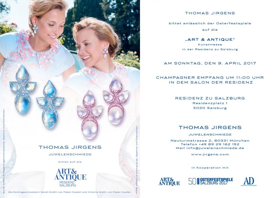Juwelenschmiede THOMAS JIRGENS Event der Osterfestspiele 2017 Residenz zu Salzburg Goldschmiede-meisterwerke Edelsteinkunstwerke Kampagne Paraiba-Turmaline und Mondstein Diamanten