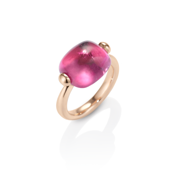 SORBETTO Ring Tourmaline-Ring 13 Carat Pink Sorbet with Pink-Tourmaline Cabochon 750 Rose-Gold Rings Tourmaline Rose Gold-Ring Gold Rings Engagement-Rings Gemstone-Rings Tourmaline-Rings
