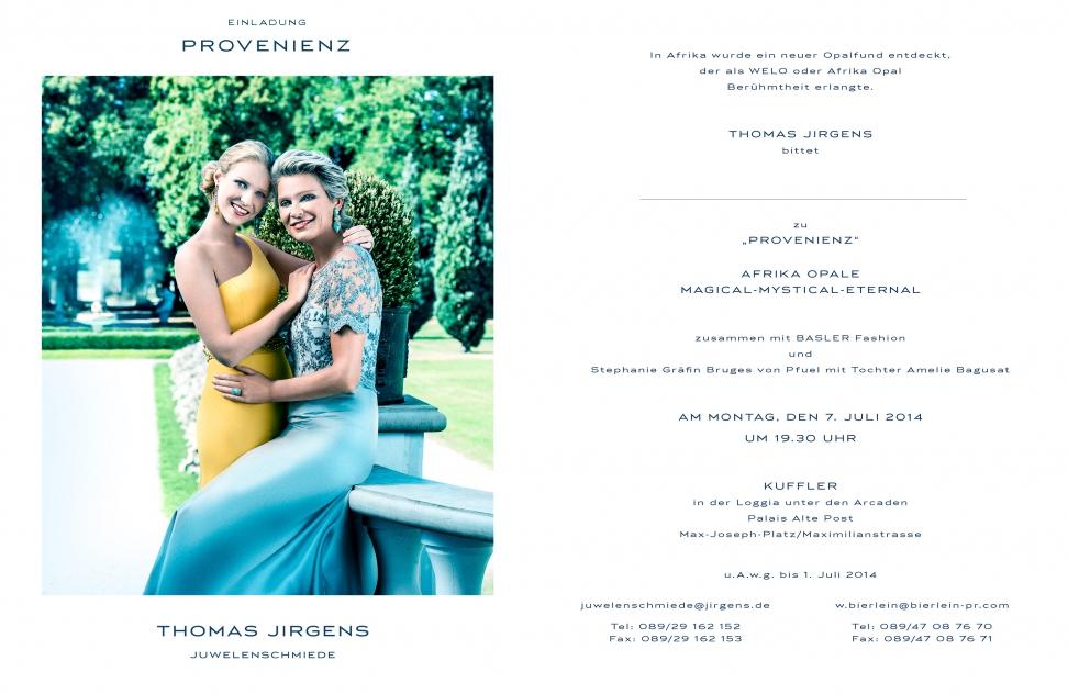 Juwelenschmiede Event mit Thomas Jirgens Basler Designer Brian Rennie Atelier Goldschmiede Ladengeschäft am Kosttor 1 80331 München Edelstein Schmuck Verkauf
