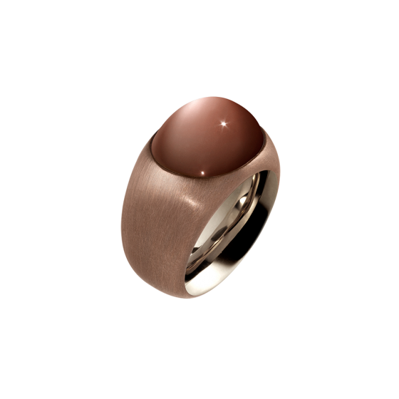 PURE CARAMEL Ring precious ring pure caramel brown moonstone 12.97 carat gold bronze 750/000 white gold gold bronze ring moonstone ring gemstone smithery gemstone gemstone refinement