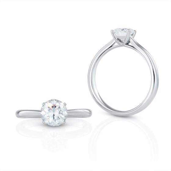 Young Princess Ring diamond-ring 1.2 carat Young Princess with white diamond of 1.2 ct in platinum iridium Handcrafted Gemstone-Rings Jeweler Jewelry Gemstone-Rings Jewelry from Munich Engagement-Rings